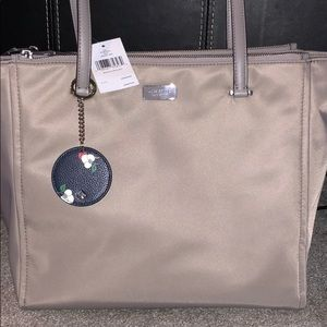 Kate Spade ♠️  Soft Taupe Tote and Keychain